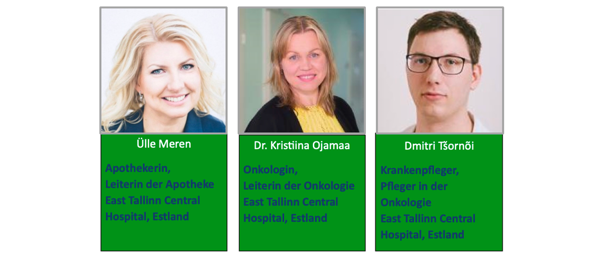Drei medizinische Fachkräfte vom East Tallinn Central Hospital